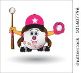 basball  softball girl cartoon...