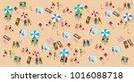 vector summertime cartoon... | Shutterstock .eps vector #1016088718