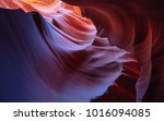 colorful sandstone at antelope... | Shutterstock . vector #1016094085