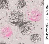 Seamless Roses Pattern  ...