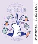 easter egg hunt poster....   Shutterstock .eps vector #1016111278