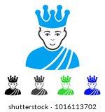 glad emperor vector pictograph. ... | Shutterstock .eps vector #1016113702