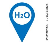 pinpoint water h2o icon  map... | Shutterstock .eps vector #1016118826