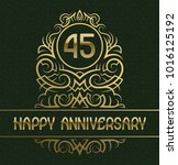 happy anniversary greeting card ... | Shutterstock .eps vector #1016125192