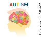 autism concept vector... | Shutterstock .eps vector #1016125642