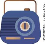 vector illustration of a blue... | Shutterstock .eps vector #1016125732