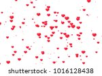 red and pink heart. valentine's ... | Shutterstock . vector #1016128438