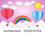 card valentine's day balloon... | Shutterstock .eps vector #1016131426