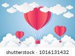 card valentine's day balloon... | Shutterstock .eps vector #1016131432