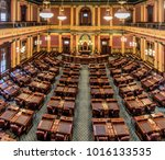 lansing  michigan  usa  ... | Shutterstock . vector #1016133535