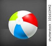 beach ball  vector | Shutterstock .eps vector #101613442