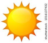 sun clip art  sun icon | Shutterstock .eps vector #1016137432