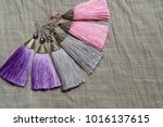 fashion earrings tassels | Shutterstock . vector #1016137615