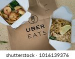 uber eats home delivery | Shutterstock . vector #1016139376