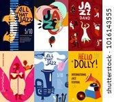 colorful jazz festival...   Shutterstock . vector #1016143555