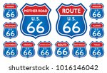route 66 traffic sign from... | Shutterstock .eps vector #1016146042