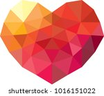 vector geometric heart  low...   Shutterstock .eps vector #1016151022