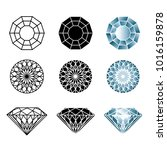 vector set of diamond design... | Shutterstock .eps vector #1016159878