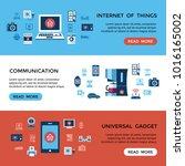 digital vector red internet of... | Shutterstock .eps vector #1016165002