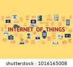 digital vector yellow internet... | Shutterstock .eps vector #1016165008