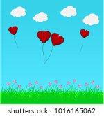 paper heart for valentantine's... | Shutterstock .eps vector #1016165062