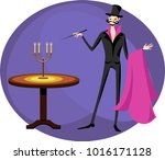 a magician in the circus | Shutterstock .eps vector #1016171128