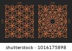laser cutting set. woodcut... | Shutterstock .eps vector #1016175898