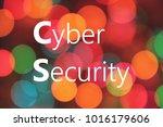 cyber security written on... | Shutterstock . vector #1016179606