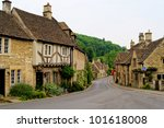 Quaint Town Of Castle Combe In...