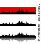 silhouette of erfurt | Shutterstock .eps vector #1016184892