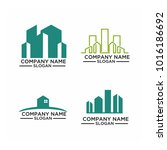 real estate logo set   abstract ... | Shutterstock .eps vector #1016186692
