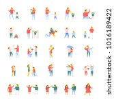 people flat vector icons pack  | Shutterstock .eps vector #1016189422