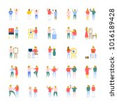people flat vector icons... | Shutterstock .eps vector #1016189428