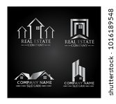 real estate logo set   abstract ...   Shutterstock .eps vector #1016189548