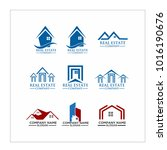 real estate logo set   abstract ... | Shutterstock .eps vector #1016190676