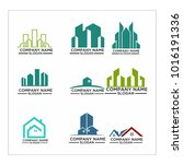 real estate logo set   abstract ... | Shutterstock .eps vector #1016191336