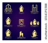 real estate logo set   abstract ...   Shutterstock .eps vector #1016191588