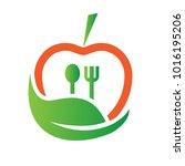 food nutrition logo | Shutterstock .eps vector #1016195206