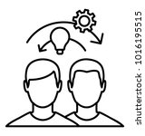 line icon talent management.... | Shutterstock .eps vector #1016195515