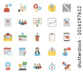 collection of project... | Shutterstock .eps vector #1016197612