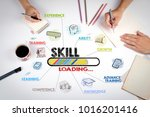 skill concept. chart with... | Shutterstock . vector #1016201416
