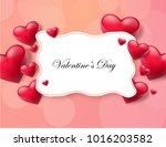 valentine's day abstract... | Shutterstock .eps vector #1016203582