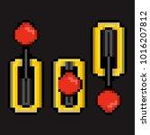 pixel art lever 8bit | Shutterstock .eps vector #1016207812