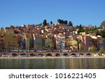 landscape view of the colorful... | Shutterstock . vector #1016221405