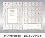 luxury premium menu design... | Shutterstock .eps vector #1016224495