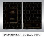 luxury premium menu design... | Shutterstock .eps vector #1016224498