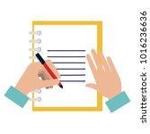 note book with hand writen | Shutterstock .eps vector #1016236636