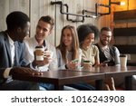 happy multi ethnic group of... | Shutterstock . vector #1016243908