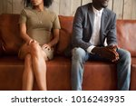 african american unhappy couple ... | Shutterstock . vector #1016243935