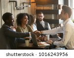multiracial african and... | Shutterstock . vector #1016243956
